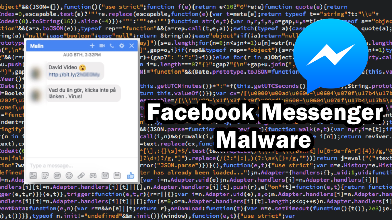 Facebook Messenger Spam and scam is targeting its victims via a video link malware